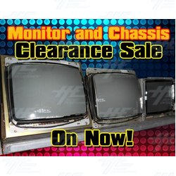 LAST CHANCE CLEARANCE SPECIAL ON CRT MONITORS AND CHASSIS
