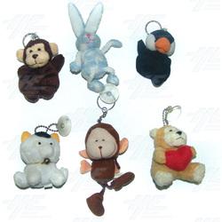 Plush Keyrings and Toys - Medium Size (20pcs)