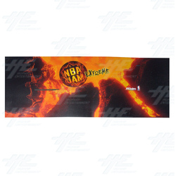 NBA Jam Extreme Control Panel Overlay Cabinet Sticker
