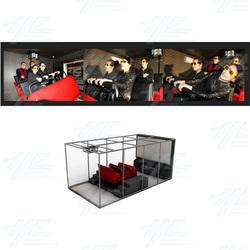 Basic 3D Full Motion Base Simulator (4 Seat Model)
