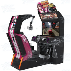 Konami Road Fighters 3D Arcade Machine