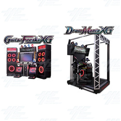 DrumMania and GuitarFreaks XG3 DX Arcade Set