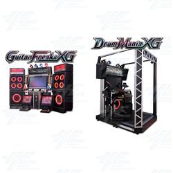DrumMania and GuitarFreaks XG3 DX Arcade Set