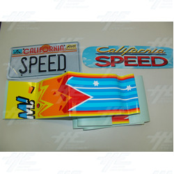 California Speed Sticker Set