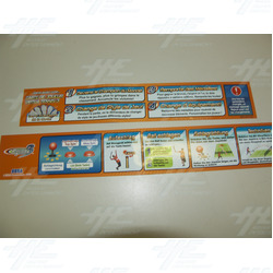Virtua Tennis 3 Player Instruction Stickers - Various Languages