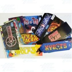 15 Assorted Arcade Header Bulk Bundle