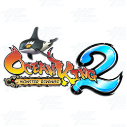 Ocean King 2: Monster's Revenge Baby Arcade Machine with Note Acceptor and Thermal Printer