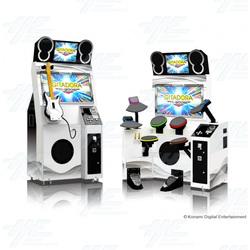 Gitadora Music Arcade Machine Set (Guitar + Drum)