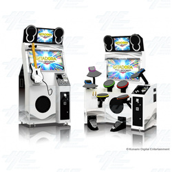Gitadora Music Arcade Machine Set (Guitar + Drum)