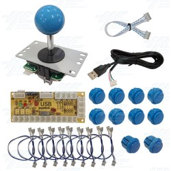 DIY Blue Arcade Joystick and Buttons Kit for Arcade Machines