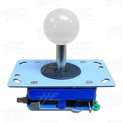White Ball Top Joystick for Arcade Machine (Zippy Styled)