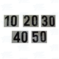 Stickers 10-20-30-40-50