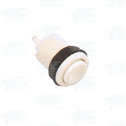 Pushbutton 34mm - Concave - White