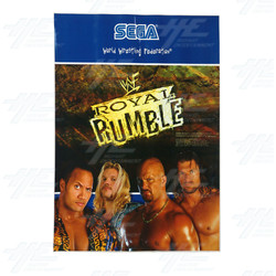 WWF Royal Rumble Cabinet Sticker