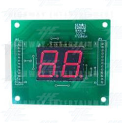 Sea*1 - 2 Digit Credit Display PCB: E128122 94v.0