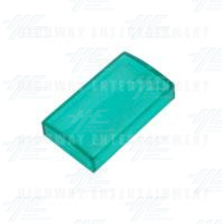 Button Covers Clear Green - Rectangular