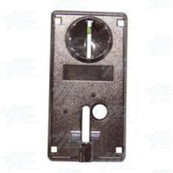 Coin Mech Face Plate - Metalic, Silver. 63mm(w) x 30mm(d) x 123mm(h)