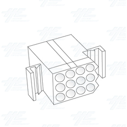 MOLEX 12 Way Receptacle Plug - 03-09-1121