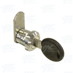 Chrome Flat Key Wafer Cam Lock - Key Series D49