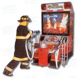 Brave Fire Fighters Arcade Machine