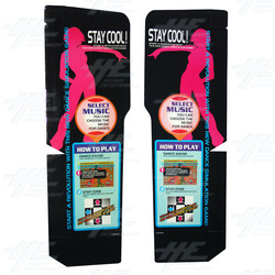 Dance Dance Revolution (DDR) Side Instruction Headers