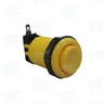 Arcade Push Button with Microswitch - Yellow