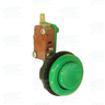 Pushbutton for Short Arcade Panel with Microswitch - Green